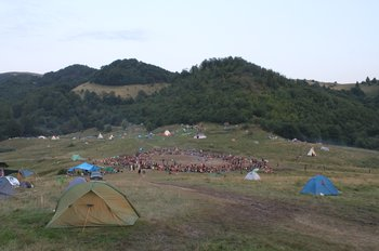 European Rainbow Gathering, near Sacuieu Romania