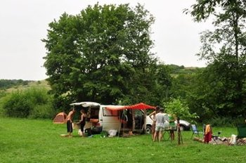 Community travellers gathering - near Wemding, south Germany